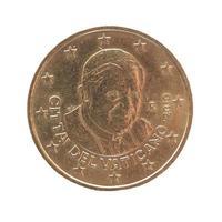 moneda de veinte centavos de euro foto