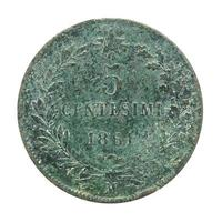 moneda italiana vintage foto