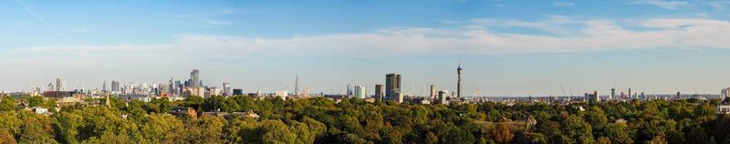 Wide panoramic view of London from Primrose hill photo