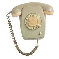 teléfono vintage aislado sobre blanco foto