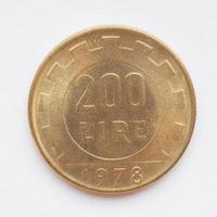 moneda de lira italiana foto