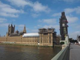 Obras de conservación de las casas del parlamento en Londres foto