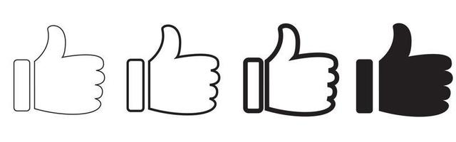 Thumbs up and down flat icon. Like icons. Hands icon. Like icons vector