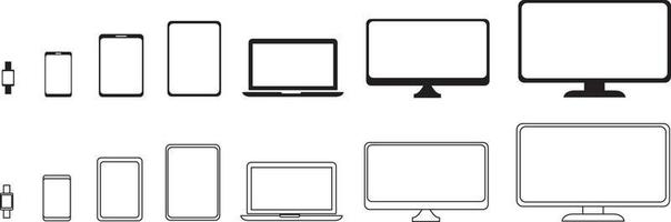 Device icons set. Devices collection vector