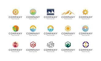 Outdoor and environment logo collection template vector