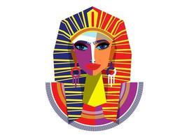 Egyptian woman pharaoh. vector  illustration