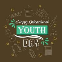 Illustration of Happy International Youth Day vector