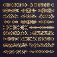 Aztec vector elements. Set of ethnic ornaments.