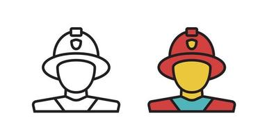 Fireman icon in the vector. Symbol of a man in the shape of a fireman. vector