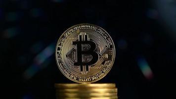 bitcoin avec fond futuriste video
