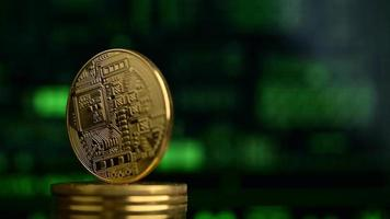 Cryptocurrency Bitcoin Physical Coin Spins video