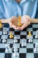 Business concept with chess board photo