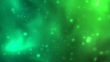 Green space floating particles background photo