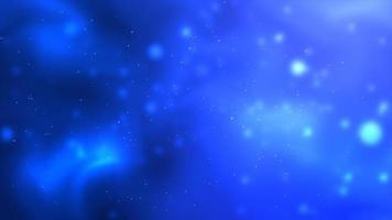 Blue space floating particles background photo