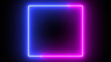 sable neón resplandor color que fluye fondo cuadrado foto