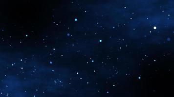 Glowing stars particle in galaxy background photo