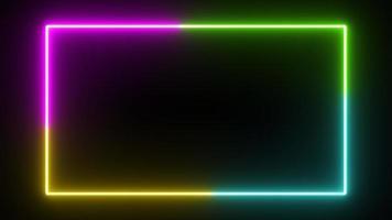 fondo de rectángulo que fluye de color resplandor de cuatro neón foto