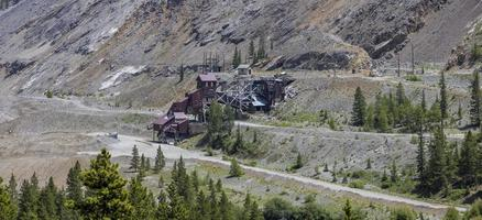 Old abandoned gold mine in Colorado near Monarch pass photo