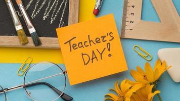 Creative composition teacher day elements photo