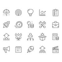 Line icon set related to Business Start Up vector