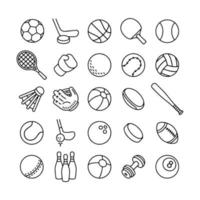Sports equipment line icon vector