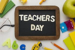 The arrangement teacher day elements photo