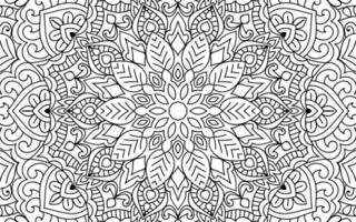 Doodle mandala design colouring book page for adults and children vector