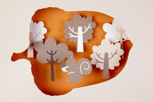 The autumn arrangement paper style photo