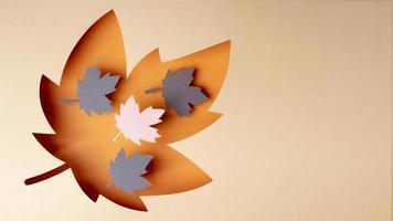 el estilo de papel de arreglo de otoño foto