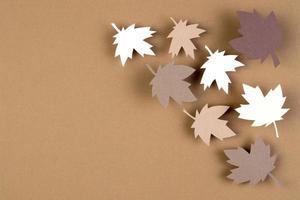 el estilo de papel surtido de otoño foto