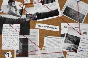 Truth concept composition detective desk photo