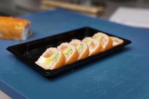 Sushi order arrangement restaurant kitchen photo