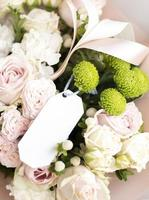 The beautiful natural flowers bouquet photo