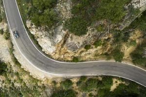 el hermoso paisaje de la carretera de montaña foto