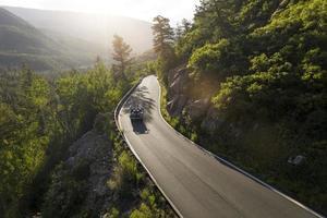 The beautiful mountain road landscape photo