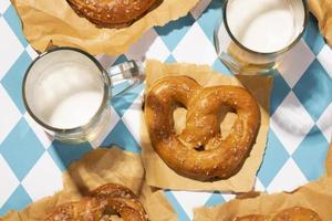 Oktoberfest arrangement with delicious pretzel photo