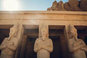 Statue of the great egyptian Pharaoh in luxor temple ,Egypt photo