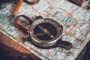 Map with compass photo