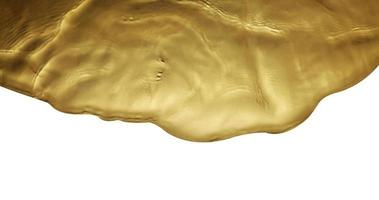 texture of splashing gold water on white background photo