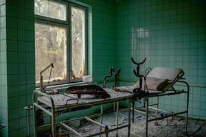 Pripyat, Chernobyl, Ukraine, Nov 22, 2020 - Abandoned hospital in Chernobyl photo