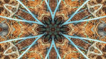 Fishnet Fishing Lines Kaleidoscope photo