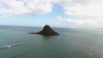 filmagem do drone do Havaí - chapéu do china, oahu video