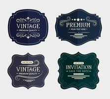 labels and invitations icons vector