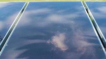 Solar Panel with Reflection of Cloud and Tree Time Lapse video