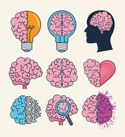 brainstorming creative process vector