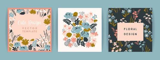 Set of vector floral design.