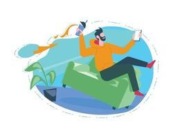 Fast speed internet illustration concept vector design for website