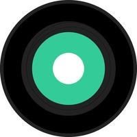 single vinyl record vector