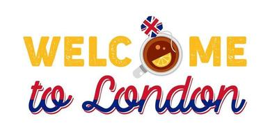Welcome to Great Britain. Great Britain flag. Patriotic design. vector