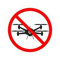 No flying zone, Drone sign. Vector illustration